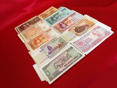 Uncirculated World Currency Lots // 1950s-2000s // 10 DIFFERENT NOTES