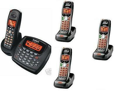 Uniden 2 Line Cordless Intercom Paging Dual Conference Phone System w 4 Handsets