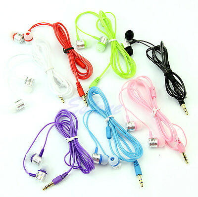 3.5mm In-Ear Earbuds Earphone Headset Headphone Fr iPhone Samsung MP3 iPod PC