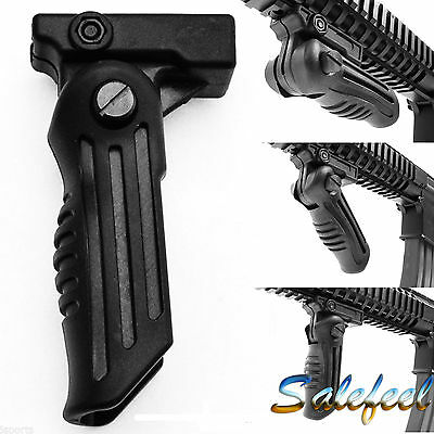 Tactical 5 Position Folding Foregrip fit 20mm Picatinny/Weaver Rail 4 Hunting