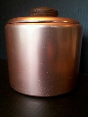 Vintage Copper Color Aluminum Canister made by Mirro