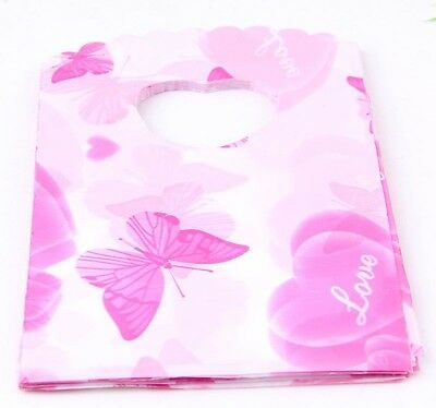 50pcs Plastic Gift Bags Pouch Wedding Jewellery Christmas Gift Bag 15x9cm