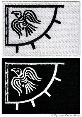 LOT of 2 NORWAY VIKING RAVEN BANNER embroidered iron-on PATCH LEIF ERICSON FLAG