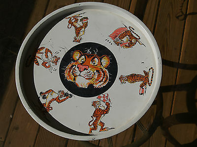 Vintage 1960's Exxon Esso Gas Tony The Tiger Serving Tray Oil Advertisement