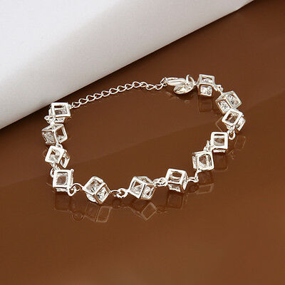 Pure checkered insets wholesale 925 sterling silver fashion bracelet FA161