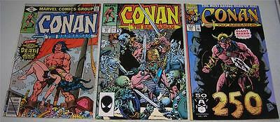 CONAN THE BARBARIAN #s 100 200 & 250 (Marvel Comics) Death of BELIT (FN/VF)