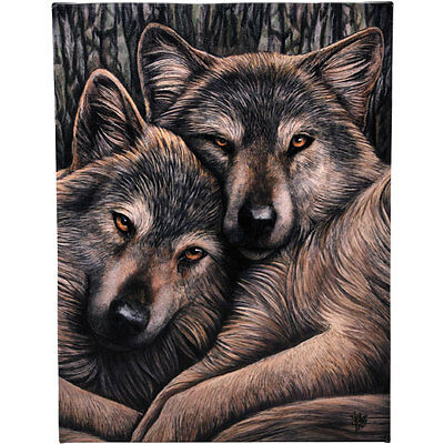 Fantasy Gothic Art Canvas Wall Plaque~Loyal Companions~by Lisa Parker~uk seller