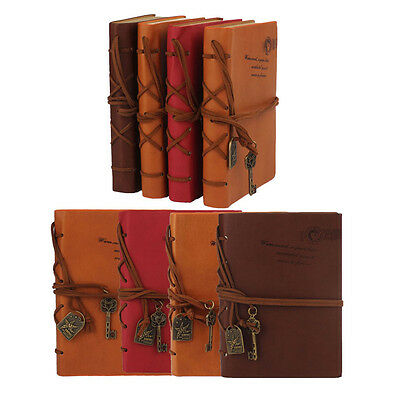 160 Page Classic Vintage Leather Blank Pages Journal Diary Notebook Special