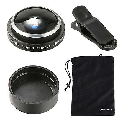 Amazing 235° super Fisheye Fish eye Lens suit For Galaxy S3 S4 S5 S6 DC598