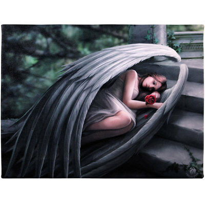 Fantasy Gothic Art Canvas Wall Plaque~Sweet Sorrow~by Anne Stokes~33~uk