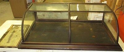 4' Oak Showcase Country General Hardware Store Display Counter Top Cabinet Table