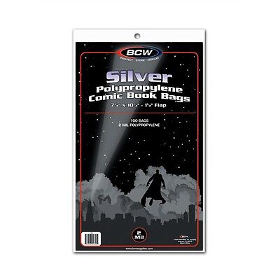 SALE!! [ 200 ] BCW SILVER AGE Clear Comic Book Bags / Sleeves