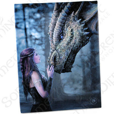 Fantasy Gothic Art Canvas Wall Plaque~Once Upon~by Anne Stokes~7~uk seller