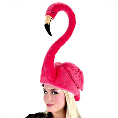 Pink Flamingo Bird Hat Funny Silly Adult Halloween Party Costume Accessory