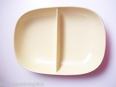 Texas Ware 116 Divided Plate Light Pale Yellow Vintage 50's 60's Melamine Bowl