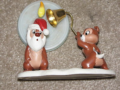 """WDCC-CHIP AND DALE """"LITTLE Mischief Makers- SANTA CANDLE- Set of 2-"""