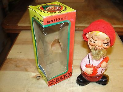 Vintage Alps Japan Happy Hillbilly Band Banjo Wind Up Action Toy Bobble Head 6""