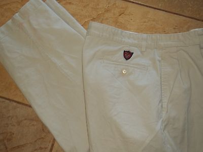 "Polo Ralph Lauren ""Classic Golf"" Reverse Pleated Khaki Chino Pants Mens 34 X 30"