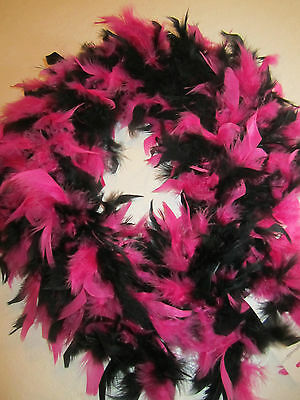 Chandelle Feather Boa 72 Inch 60 Gram Black And Hot Pink Bnew In Package