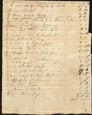 Reed Dickerson, Died War of 1812, Montgomery Co VA Estate Document
