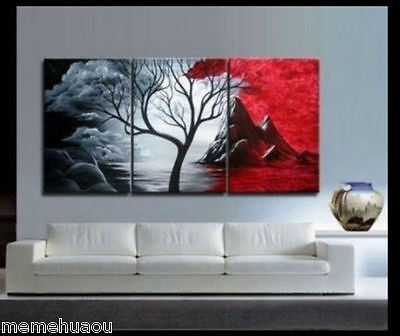 MODERN ABSTRACT HUGE WALL ART OIL PAINTING ON CANVAS (No Framed)##4