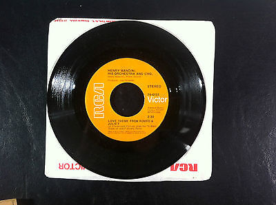 45 RPM Record Henry Mancini The Windmills Of Your Mind / Love Theme Romeo/Juliet