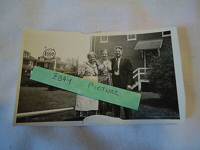 Esso Standard Dealer 1930's photo with gas globes near sign