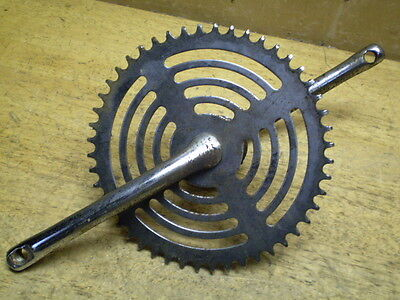 """Used 1948 Roadmaster 26"""" Mens Bicycle Sprocket With Bottom Bracket Some Rust"""