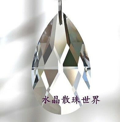 15pcs 38MM CLEAR GLASS CHANDELIER CRYSTALS PRISMS LAMP PARTS TEARDROP NEW #003