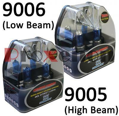 M-Box Combo 9006 9005 100/100 W White Gas Halogen Headlight Pu1 Bulb Low/Hi Beam