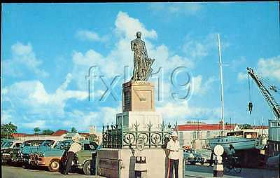 Barbados ~ LORD NELSON MONUMENT ~ Cunard Line Postcard 216