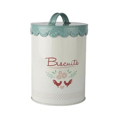 Gisela Graham Enamelware Kitchen Canister - Biscuit Barrel