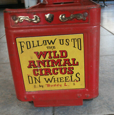 GMC Buddy L Wild Animal Circus Truck 1960's Pressed Vintage Toy Parts / Restore