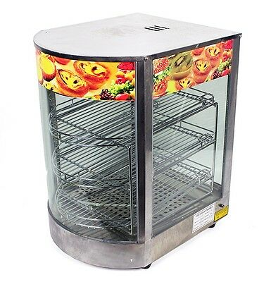 """New Commercial Countertop Stainless Steel Food Pizza Display Warmer 20""""x17""""x14"""""""
