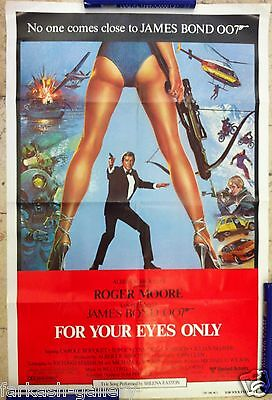 For Your Eyes only original James Bond 007 movie poster Roger Moore british MI 6