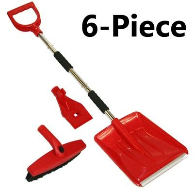 Car Emergency Snow Shovel Spade + Windscreen Ice Scraper + Clearing Broom P-256#