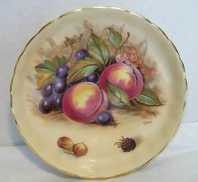 Vintage Aynsley Fine English Bone China Small Bowl Orchard Fruit Gold Rim