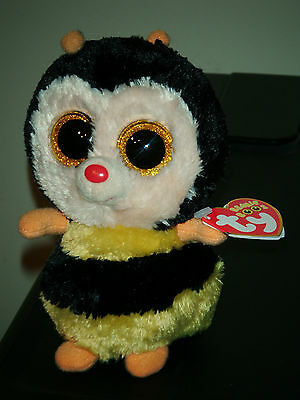 "Ty Beanie Boos Boo's ~ STING the 6"" Bumblebee ~ 2013 NEW Sparkly Eyes Version"