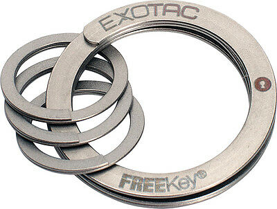 Lot of Five 5 Exotac FreeKey System Easy to Use Key Chain Easy Opening 2825