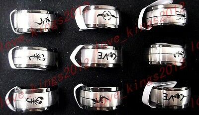 wholesale Bulk 30ps massy Turning Stainless Steel silver men's rings HOT Jewelry