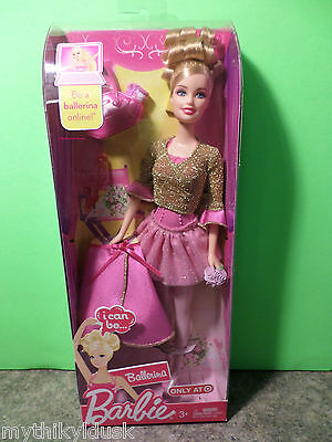i can be BALLERINA Barbie Doll  2009 NRFB  #T2214  Target Exclusive