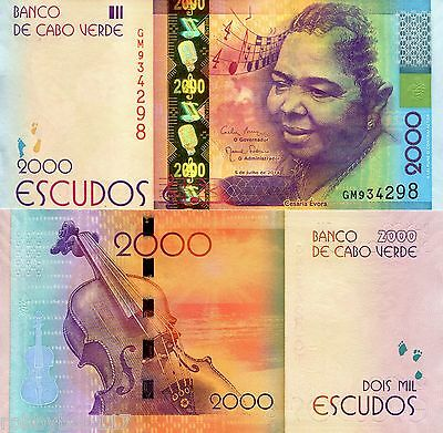 CAPE (CABO) VERDE 2000 Escudos Banknote World Paper Money UNC Currency Pick p-74
