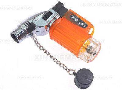 Portable Cigarette Cigar Windproof Butane Gas Refillable Lighter Torch