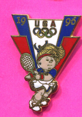 1996 ATLANTA OLYMPICS WOMENS TENNIS CABBAGE PATCH OLYMPIC GAMES PIN