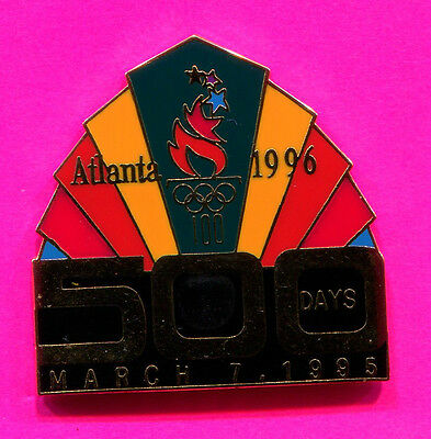 1996 OLYMPIC PIN 500 DAYS PIN COUNTDOWN PIN- 500 DAYS TO GO MARCH 7, 1995-PIN