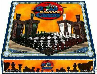 QUAD KINGDOM CHESS BOARD GAME 4 PLAYER LE SPECIAL OFFER