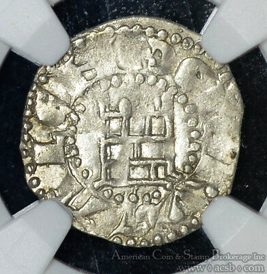 Crusader-Jerusalem 1 Denier 1143-63 EF45 NGC Baldwin III Tower of David Rough.