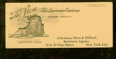 "1920's The Lion Fire Insurance Co. 4"" x 9 1/2"" ink blotter"