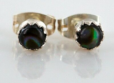 Delicate-$50 Tag-AUTHENTIC K. McCray Navajo .925 ABALONE Stud Earrings 1049