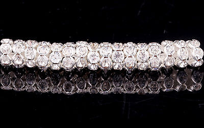 100Pcs 8mm Silver Plated Clear Rhinestone Crystal Spacer Beads Findings DIY